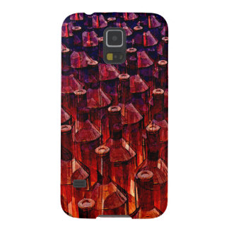 Abstract Brown Glass Bottles Galaxy S5 Cases