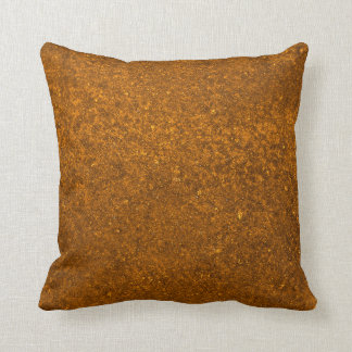 Abstract Brown Stone Texture Pattern Throw Pillow