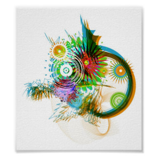 Abstract Brush Design Poster