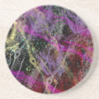 Abstract Brush Strokes Design Coaster