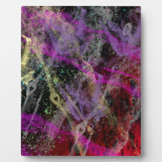Abstract Brush Strokes Design Plaque