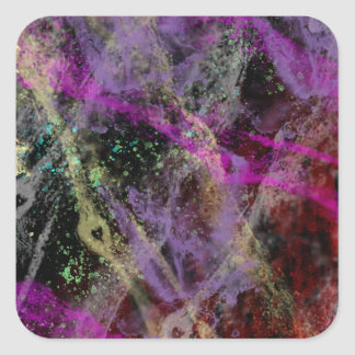 Abstract Brush Strokes Design Square Sticker