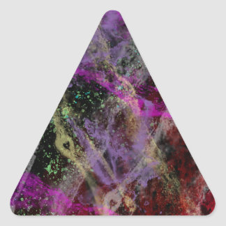 Abstract Brush Strokes Design Triangle Sticker