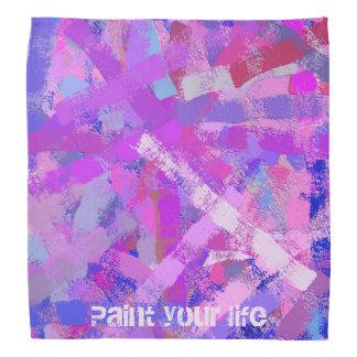 abstract brush strokes violet texture. bandana