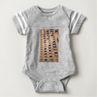 Abstract building baby bodysuit