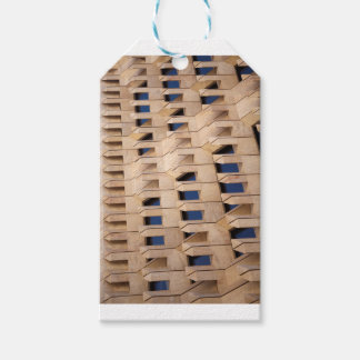 Abstract building gift tags