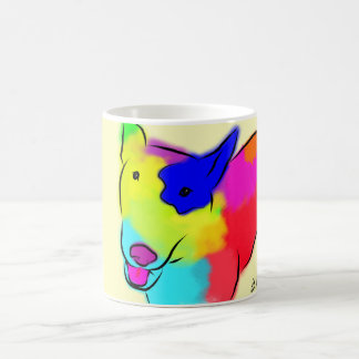 Abstract Bull Terrier Coffee Mug