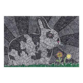Abstract Bunny Photo Print