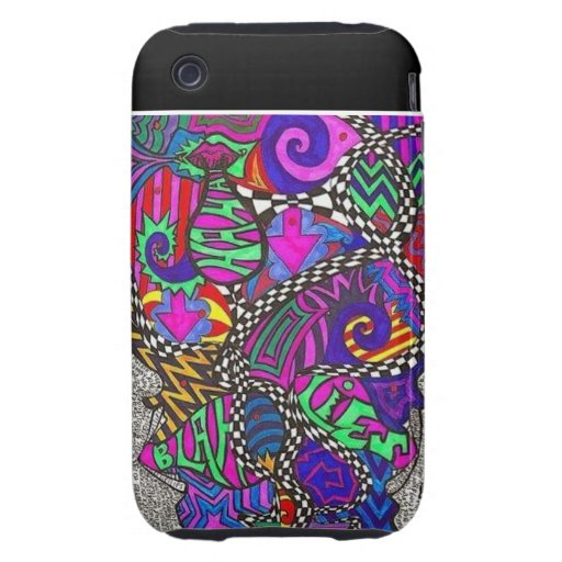 Abstract Burst Tough iPhone 3 Covers
