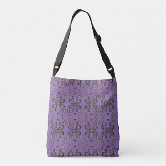 Abstract Butterflies Mandala Pattern Crossbody Bag