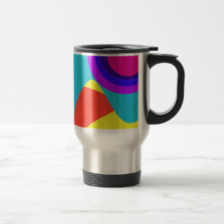 Abstract Butterfly 15 Oz Stainless Steel Travel Mug