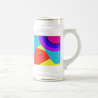 Abstract Butterfly Blue 18 Oz Beer Stein