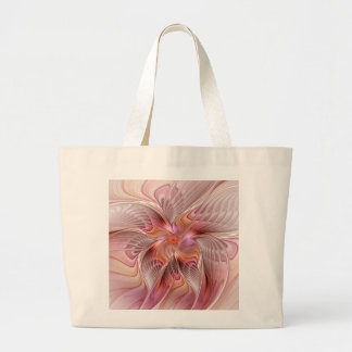 Abstract Butterfly Colorful Fantasy Fractal Art Large Tote Bag
