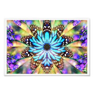 Abstract Butterfly Flower Photo Print