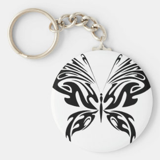 Abstract Butterfly Keychain