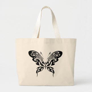 Abstract Butterfly Large Tote Bag