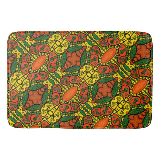 Abstract Butterfly Pattern Yellow Orange Green Bath Mat