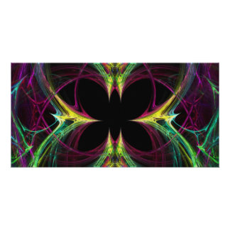 Abstract Butterfly Photo Greeting Card