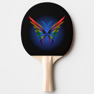 Abstract Butterfly Ping Pong Paddle