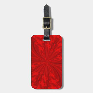 Abstract Butterfly Red Luggage Tag