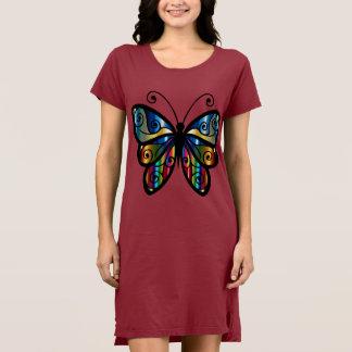 Abstract Butterfly T-Shirt Dress
