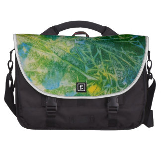 Abstract Butterfly Watercolor Painting Laptop Messenger Bag