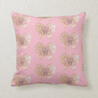 Abstract Butterfly Wings Insect Bug Pink Pillow