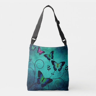 Abstract Butterlies Cross Bag