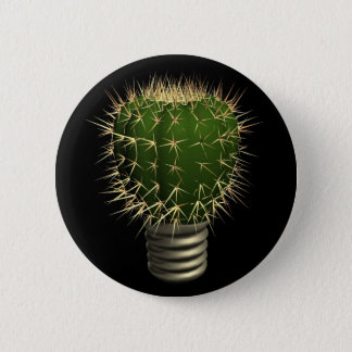 Abstract cactus 2 inch round button