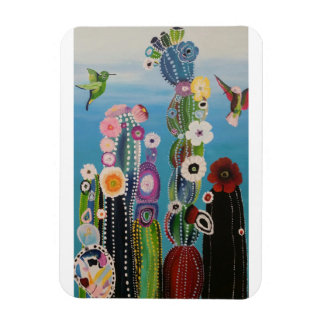 Abstract Cactus Magnet
