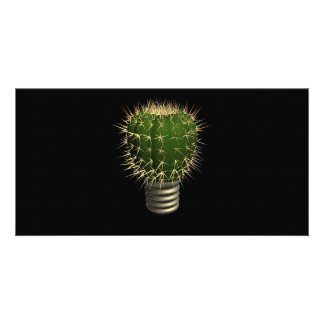 Abstract cactus personalized photo card