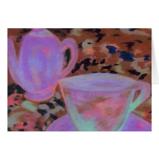 Abstract Cafe CricketDiane Coffee Art Greeting Card