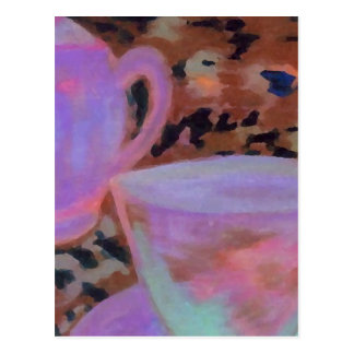 Abstract Cafe CricketDiane Coffee Art Post Card