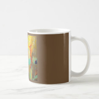 Abstract caffeine buzz coffee mug