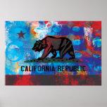 Abstract California Flag Print