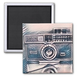 Abstract camera sketch magnet