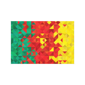 Abstract Cameroon Flag, Cameroon Africa Canvas