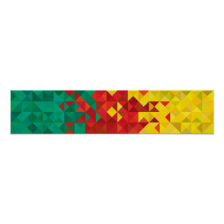 Abstract Cameroon Flag, Cameroon Africa Poster