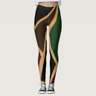 Abstract Camouflage Leggings