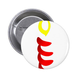 Abstract Candle 2 Inch Round Button