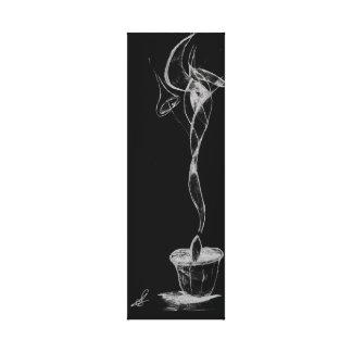 Abstract Candle Smoke Canvas Print