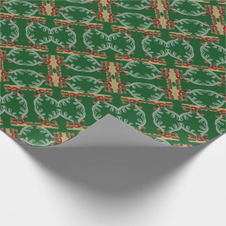 Abstract Cartoon Reindeer Christmas Wrapping Paper