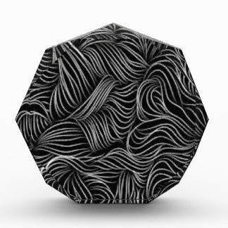 Abstract Cascading Black and White Pattern