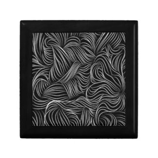 Abstract Cascading Black and White Pattern Gift Box