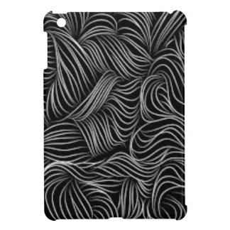 Abstract Cascading Black and White Pattern iPad Mini Cases