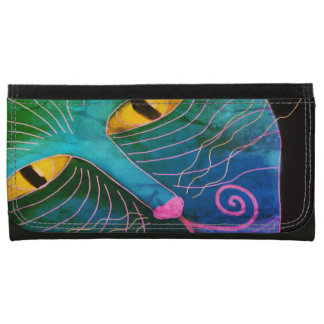 Abstract Cat Face Wallet