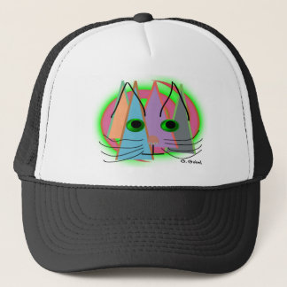 Abstract Cat Lover Art Gifts Trucker Hat