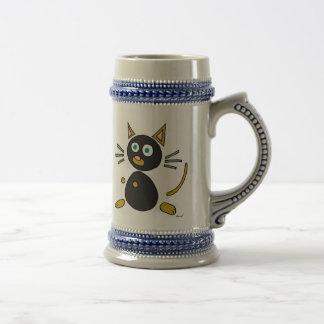Abstract Cat Stein Mug