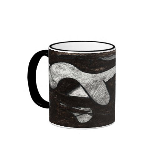 Abstract Cave Drawing Coffee Mugs