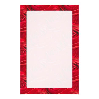 Abstract Center of Red Rose Wallpaper Custom Stationery
